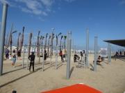 Sportifs sur la plage